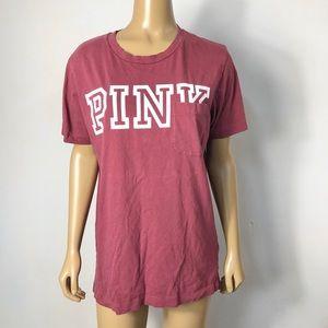 Victoria's Secret PINK graphic pocket t shirt